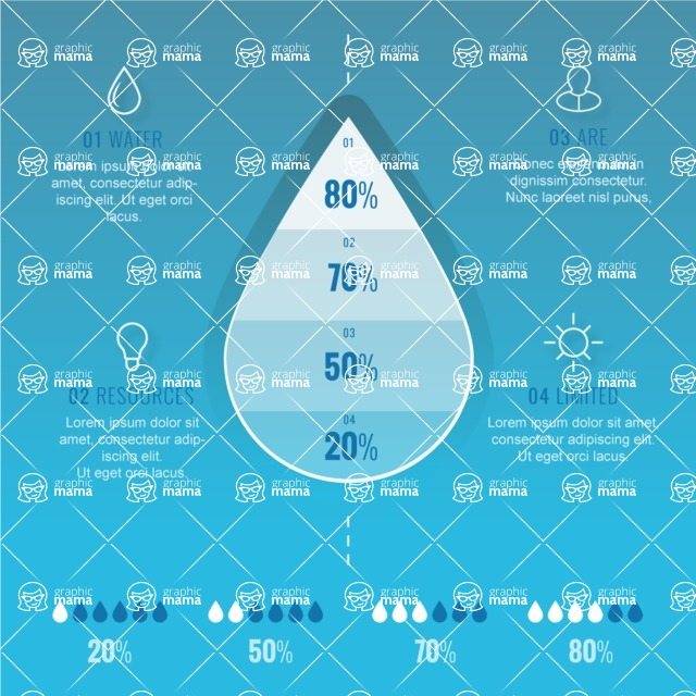 Infographic Templates Collection - Vector, Photoshop, PowerPoint, Google Slides - Water Ecology Infographic Template