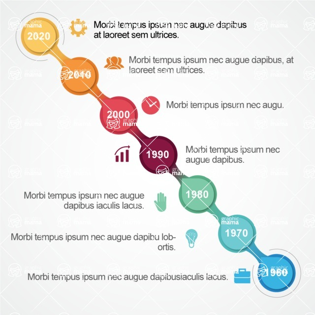 Infographic Template Collection - Vector Timeline Infographic Template Design With Years
