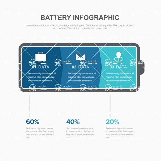 Infographic Templates Collection - Vector, Photoshop, PowerPoint, Google Slides - Vector Clean Energy Infographic Template With Battery Icon