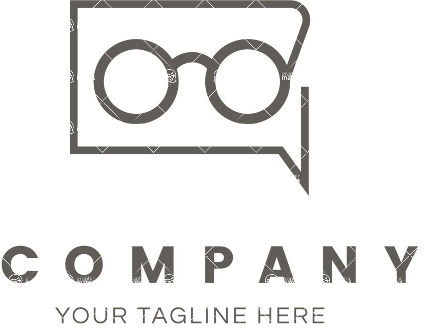 Business Logo Templates - vector graphics in a pack from GraphicMama - Vector Eyewear Company Logo Design
