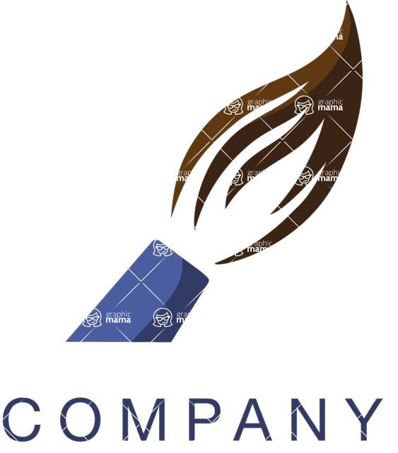 Company Logo Templates Mega Bundle Artistic Logo Design With Paintbrush Graphicmama