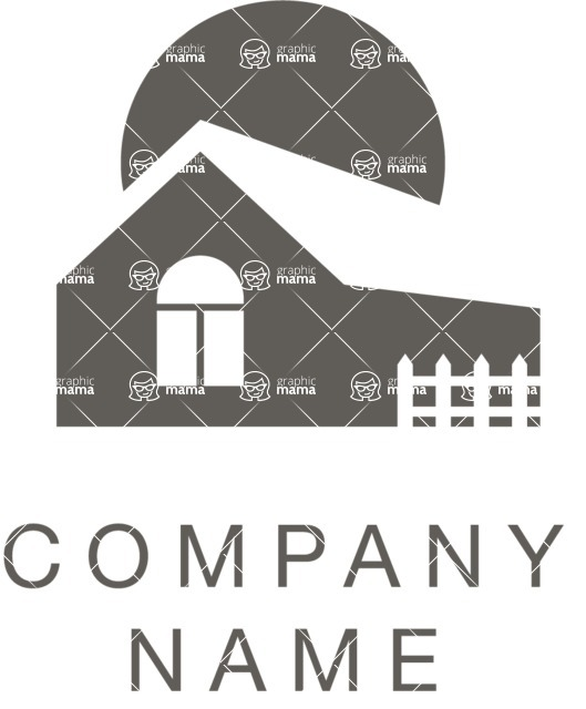 Business Logo Templates - vector graphics in a pack from GraphicMama - Black and White Real Estate Vector Logo Design