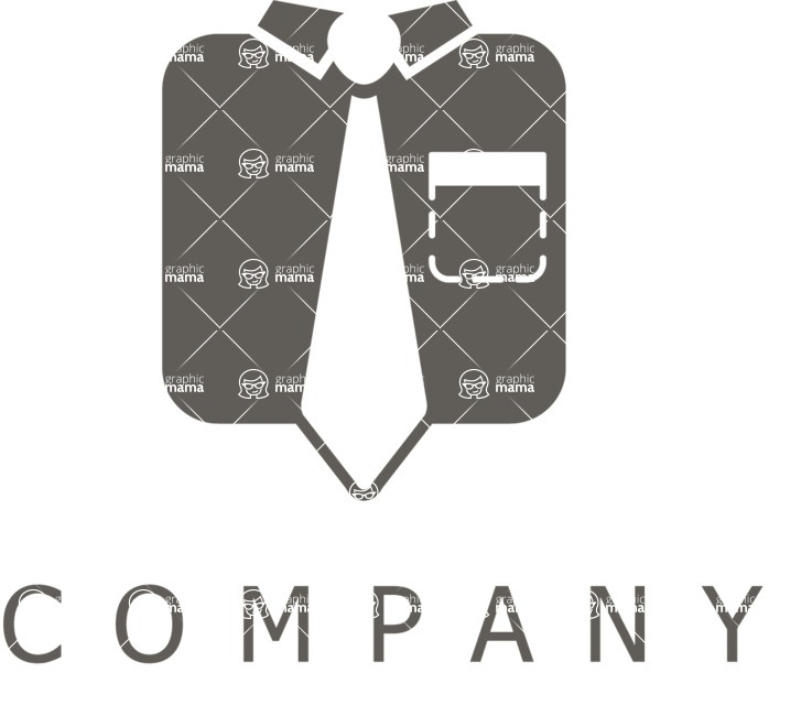 Business Logo Templates - vector graphics in a pack from GraphicMama - Businessman Clothes Company Vector Logo Design