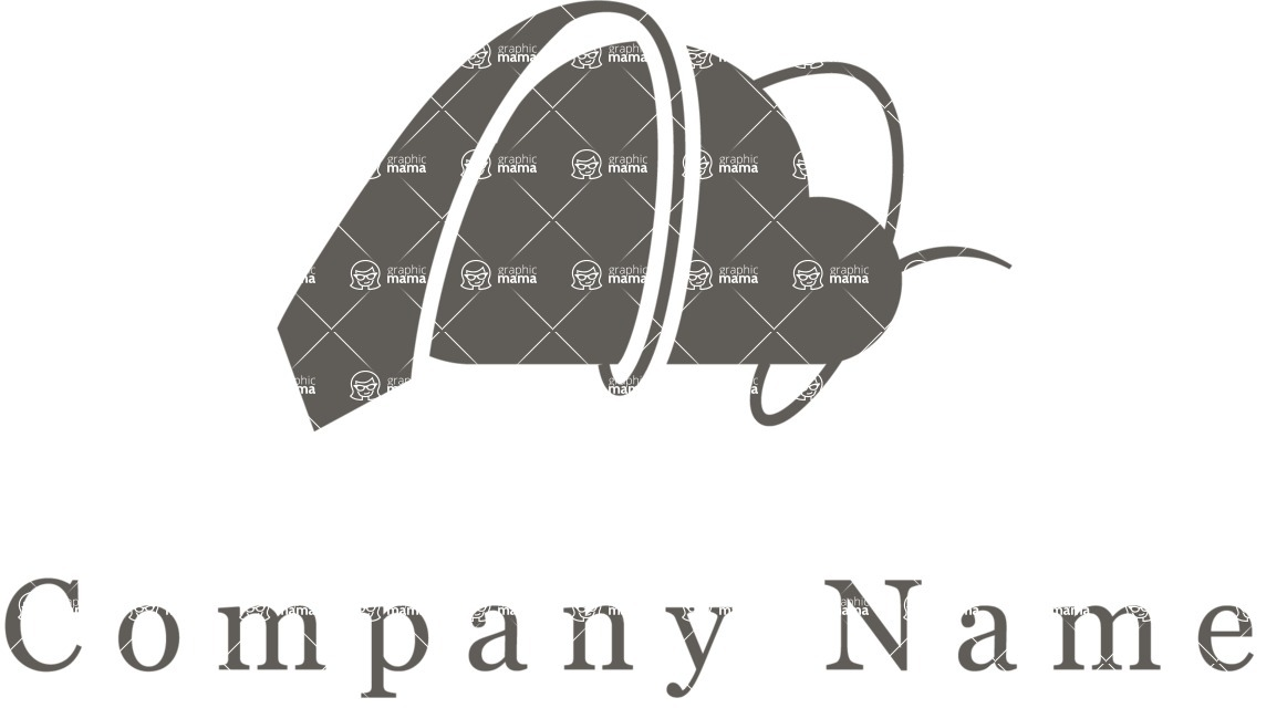 Business Logo Templates - vector graphics in a pack from GraphicMama - Cloud Services Vector Logo Design - Black and White