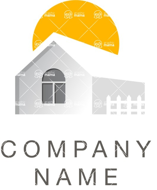 Business Logo Templates - vector graphics in a pack from GraphicMama - Creative Real Estate Vector Logo Design