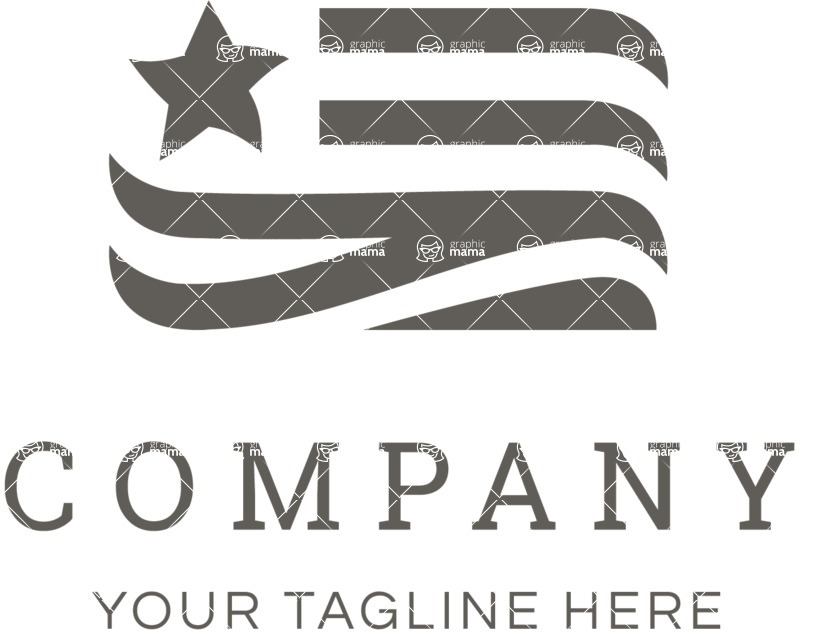 Business Logo Templates - vector graphics in a pack from GraphicMama - Creative USA Flag Vector Logo Design