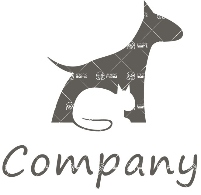 Business Logo Templates - vector graphics in a pack from GraphicMama - Dog and Cat Animal Logo Design