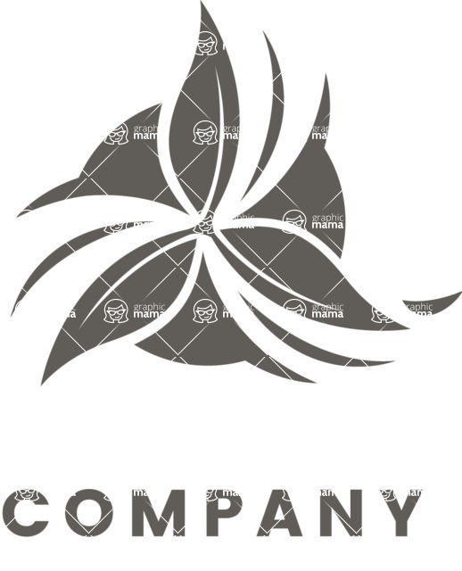 Business Logo Templates - vector graphics in a pack from GraphicMama - Flower Business Logo Design - Black and White