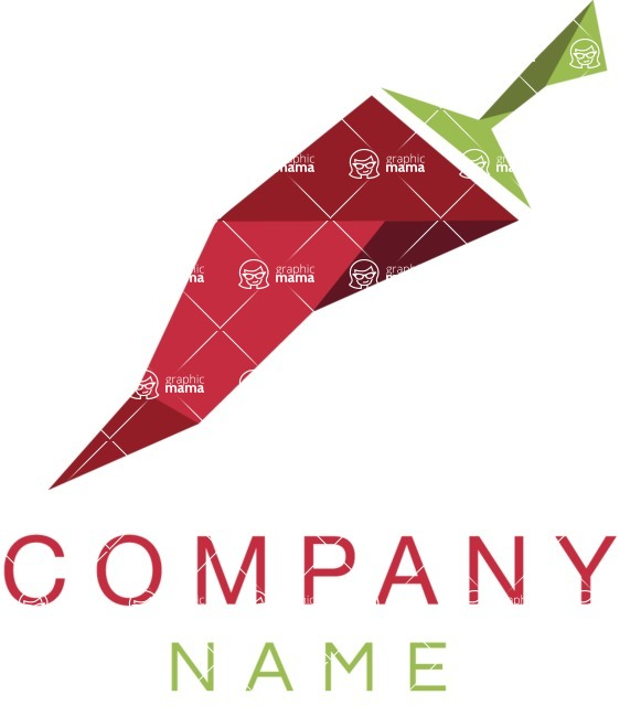 Business Logo Templates - vector graphics in a pack from GraphicMama - Food Logo Design with Red Hot Pepper