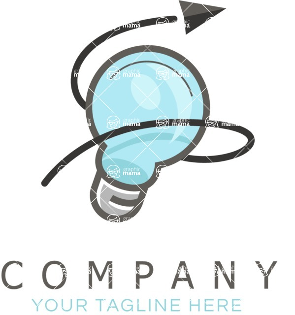 Business Logo Templates - vector graphics in a pack from GraphicMama - Lightbulb Colored Business Logo Design