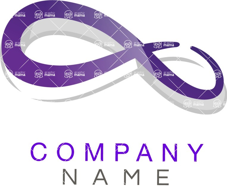 Business Logo Templates - vector graphics in a pack from GraphicMama - Modern Infinity Sign Company Logo Design Creative Concept