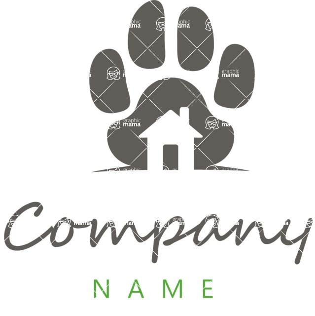 Business Logo Templates - vector graphics in a pack from GraphicMama - Pet Care Logo Design Creative Concept