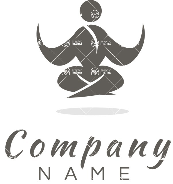 Business Logo Templates - vector graphics in a pack from GraphicMama - Relax and Meditation Business Logo Design Black and White