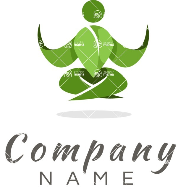 Business Logo Templates - vector graphics in a pack from GraphicMama - Relax and Meditation Colorful Logo Design