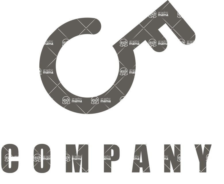 Business Logo Templates - vector graphics in a pack from GraphicMama - Security Business Company Logo Design - Black and White