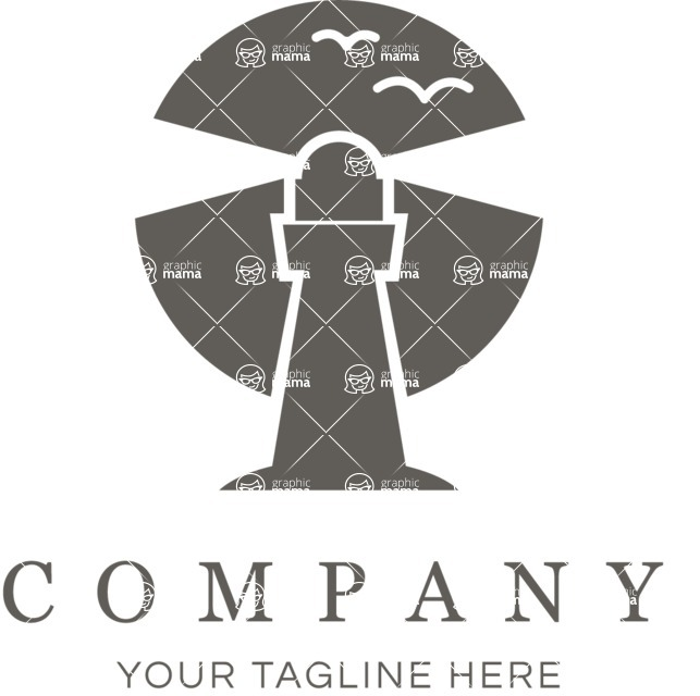 Business Logo Templates - vector graphics in a pack from GraphicMama - Simple Style Company Logo Design with Lighthouse