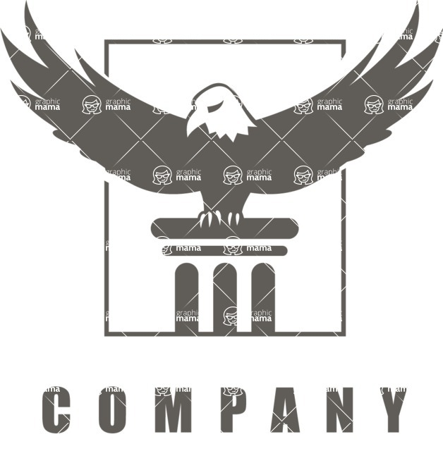 Business Logo Templates - vector graphics in a pack from GraphicMama - Strong Company Logo Design with an Eagle