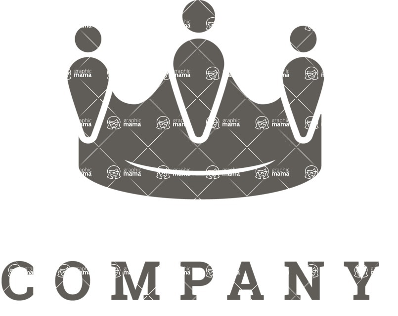Business Logo Templates - vector graphics in a pack from GraphicMama - Vector Crown Business Logo Design