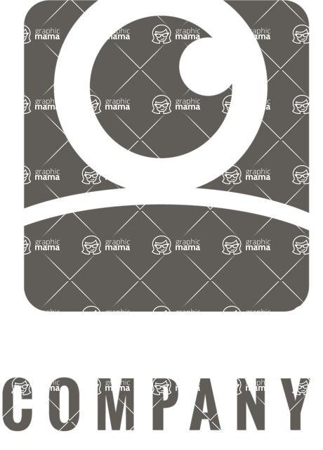 Business Logo Templates - vector graphics in a pack from GraphicMama - Watching Eye Logo Design - Black and White