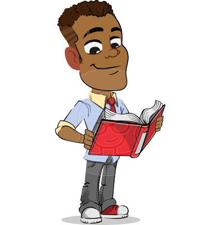 Simple Style Cartoon of an African-American Guy