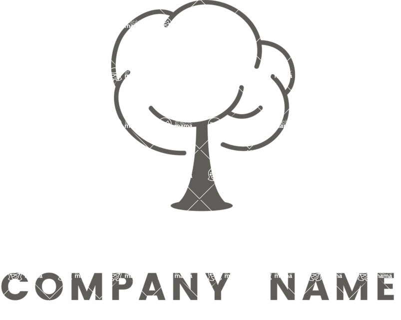 Business Logo Templates - vector graphics in a pack from GraphicMama - Black and White Tree Logo design for Ecology Organization