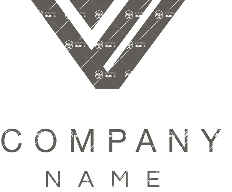 Business Logo Templates - vector graphics in a pack from GraphicMama - Business Company Logotype with Letter V