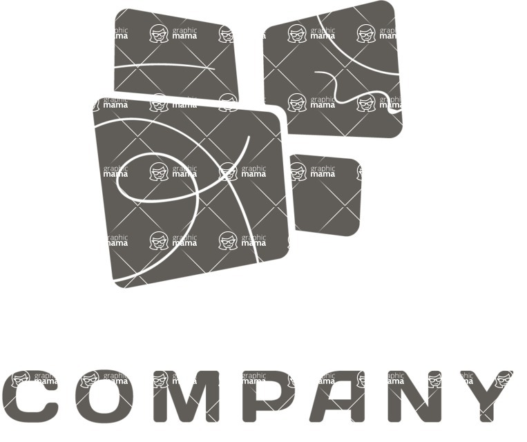 Business Logo Templates - vector graphics in a pack from GraphicMama - Creative Company Logo Design - Black and White