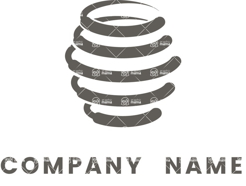 Business Logo Templates - vector graphics in a pack from GraphicMama - Vector Honey Logo Design - Black and White