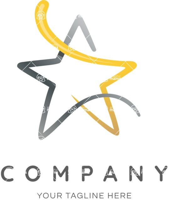 Business Logo Templates - vector graphics in a pack from GraphicMama - Creative Golden Star Logo Design