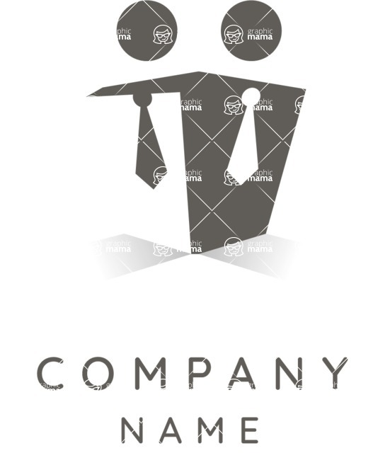 Business Logo Templates - vector graphics in a pack from GraphicMama - Partner Company Logo Design - Black and White