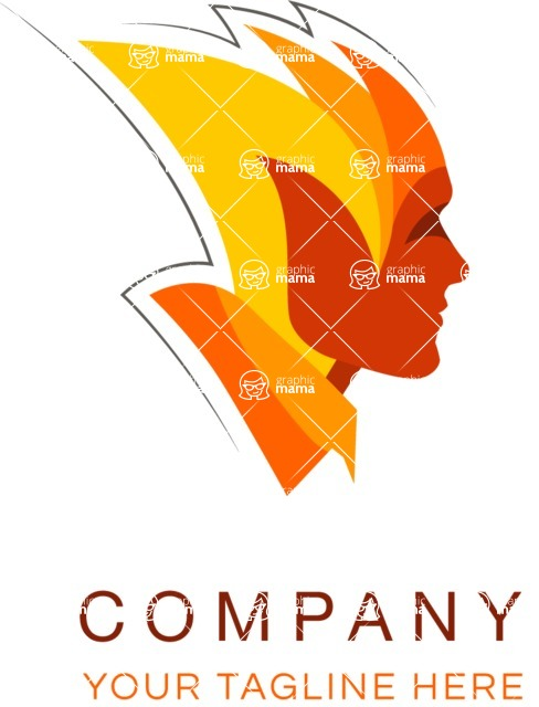Business Logo Templates - vector graphics in a pack from GraphicMama - Abstract Colorful Person Logo Design