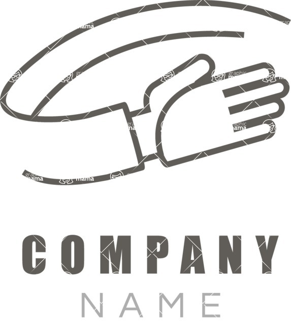 Business Logo Templates - vector graphics in a pack from GraphicMama - Partner Hand Company Logo Design - Black and White