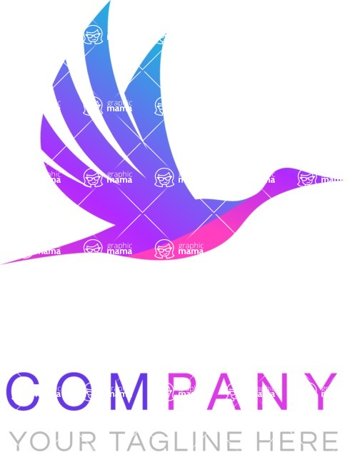 Business Logo Templates - vector graphics in a pack from GraphicMama - Colorful Flying Bird Logo Design