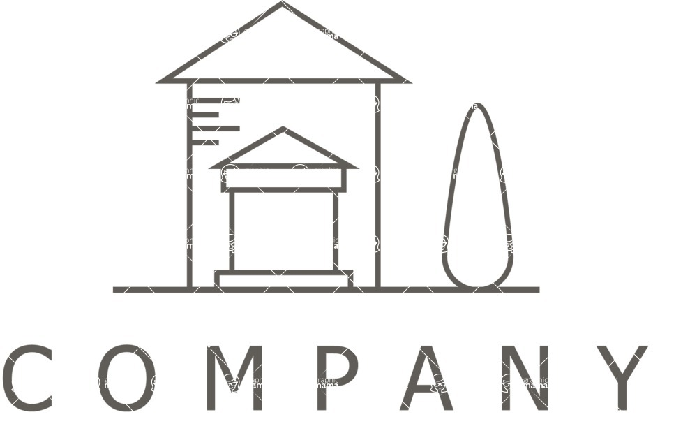 Business Logo Templates - vector graphics in a pack from GraphicMama - Outline Exterior Company Logo Design