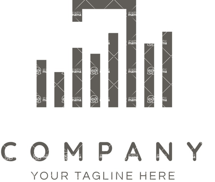 Business Logo Templates - vector graphics in a pack from GraphicMama - One Color Music Company Logo with Sound Bars