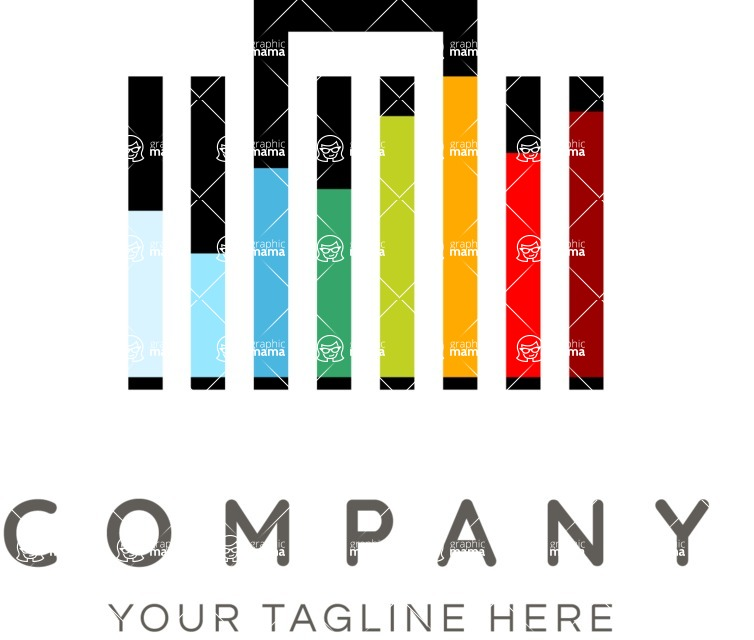 Business Logo Templates - vector graphics in a pack from GraphicMama - Modern Company Logo with Graph Bars