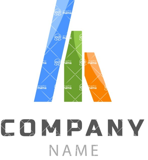Business Logo Templates - vector graphics in a pack from GraphicMama - Vector Colorful Geometric Shapes Logo Design