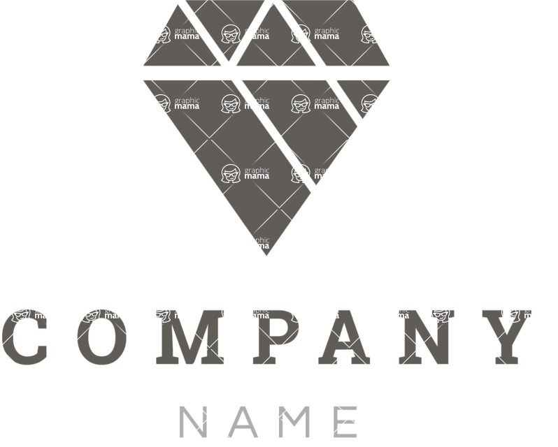 Business Logo Templates - vector graphics in a pack from GraphicMama - Jewelry Company Logo Design - Black and White