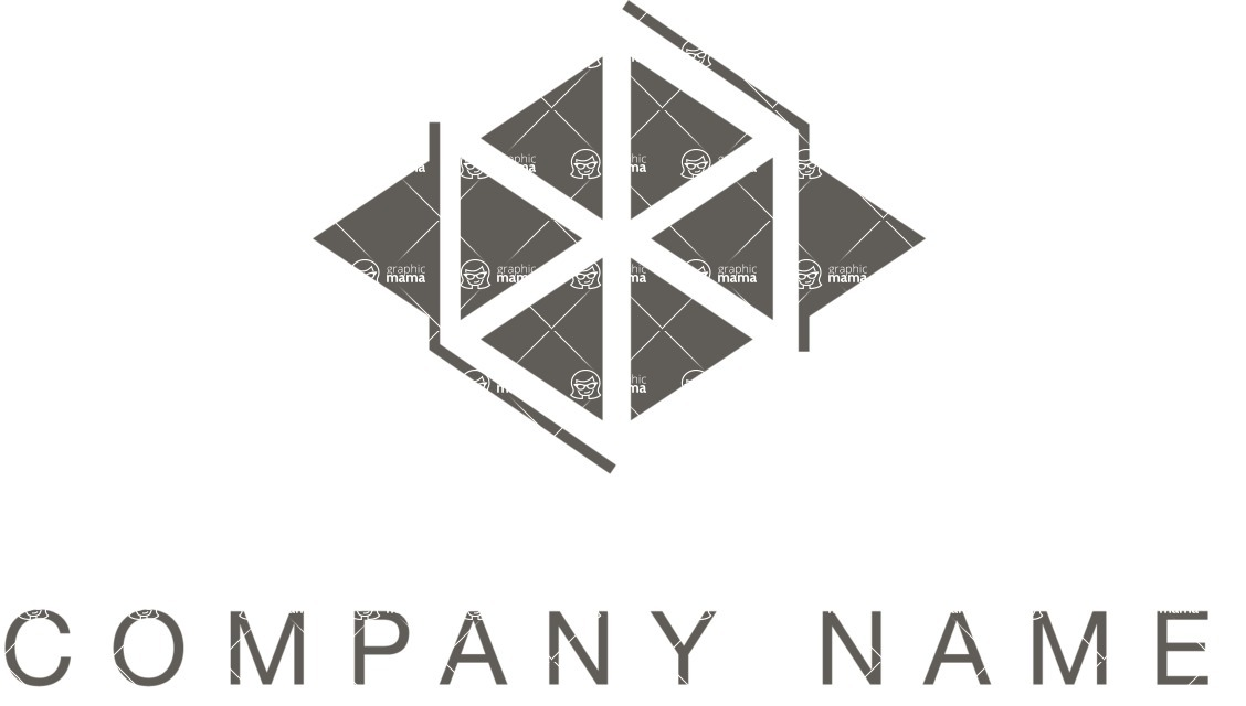 Business Logo Templates - vector graphics in a pack from GraphicMama - Business Company Logo Design with Triangle Shapes