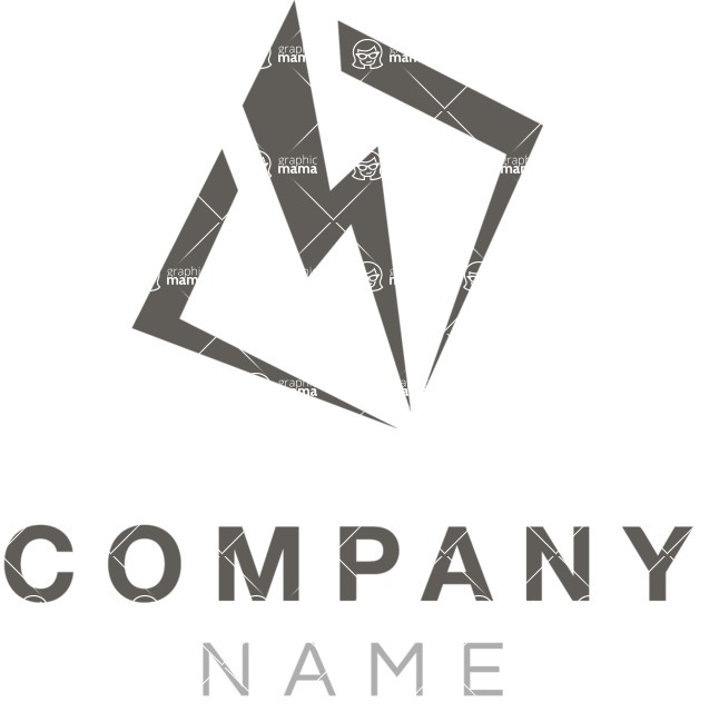 Business Logo Templates - vector graphics in a pack from GraphicMama - Energy Company Logo Design with a Bolt - Black and White