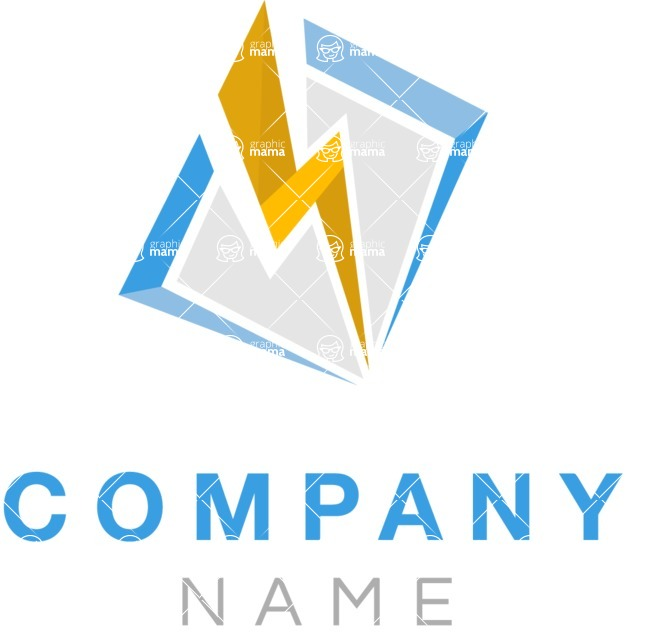 Business Logo Templates - vector graphics in a pack from GraphicMama - Modern Energy Company Logo Design with a Bolt