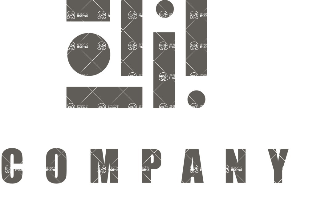 Business Logo Templates - vector graphics in a pack from GraphicMama - Mosaic Logo Design for Construction Company