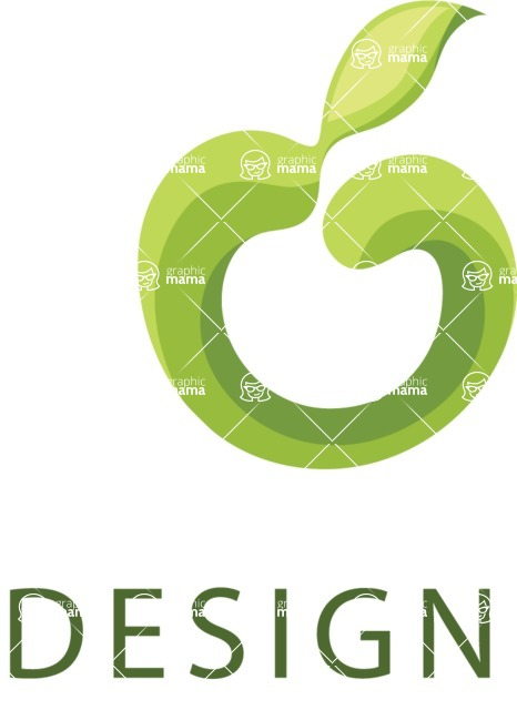Business Logo Templates - vector graphics in a pack from GraphicMama - Vector Green Apple Logo Design