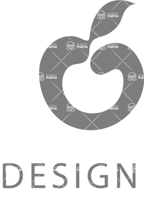 Business Logo Templates - vector graphics in a pack from GraphicMama - Vector Apple Fruit Logo Design