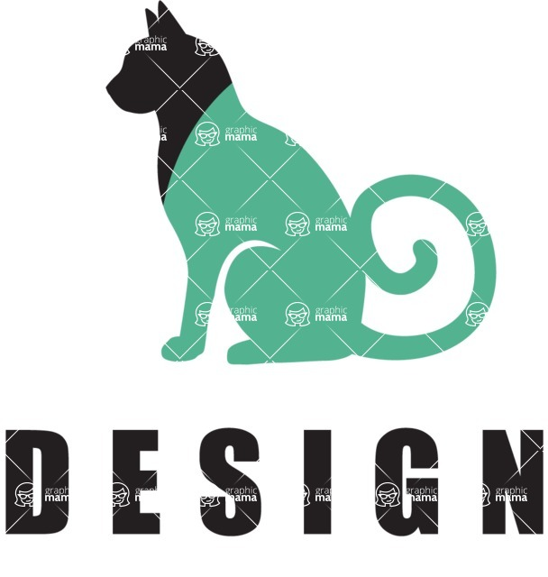 Business Logo Templates - vector graphics in a pack from GraphicMama - Design Company Logo Design with Cat