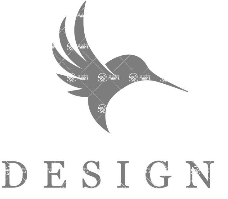 Business Logo Templates - vector graphics in a pack from GraphicMama - Modern Creative Hummingbird Logo Design