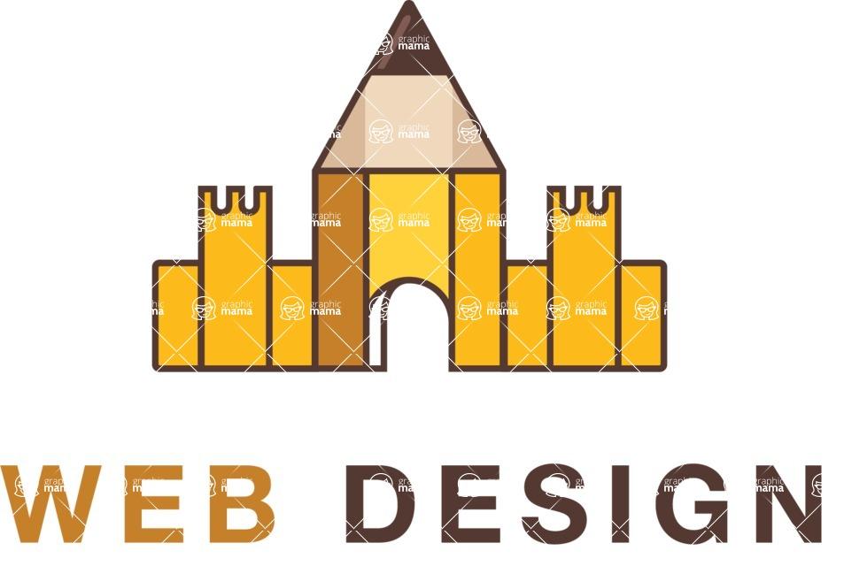 Company Logo Templates Mega Bundle Creative Colorful Web Design Company Logo Template Graphicmama