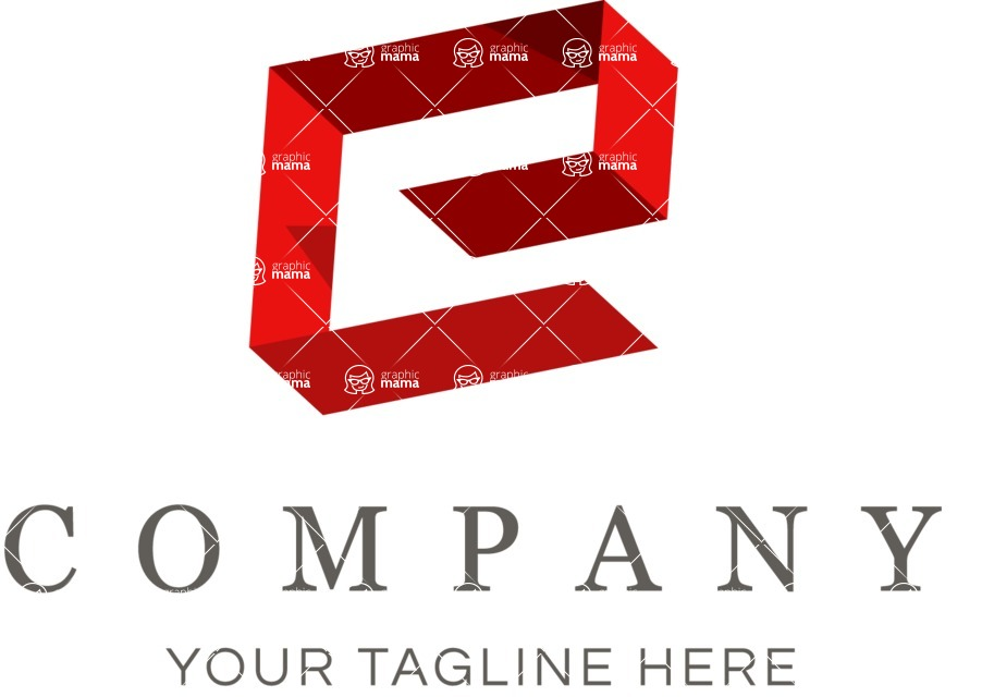 Business Logo Templates - vector graphics in a pack from GraphicMama - Vector Isometric Logo Design with Letter E