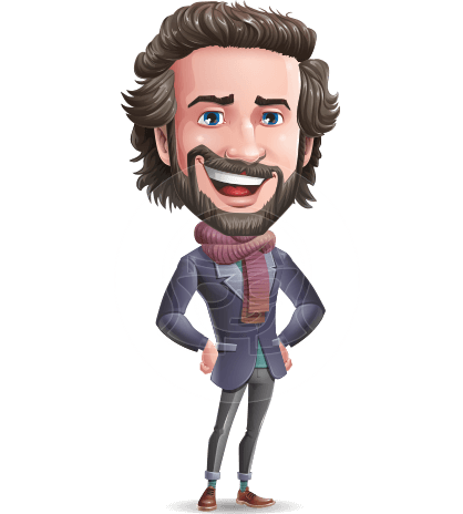 Stylish Man Cartoon Vector Character