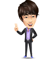Fashionable Asian Man Cartoon Vector Character